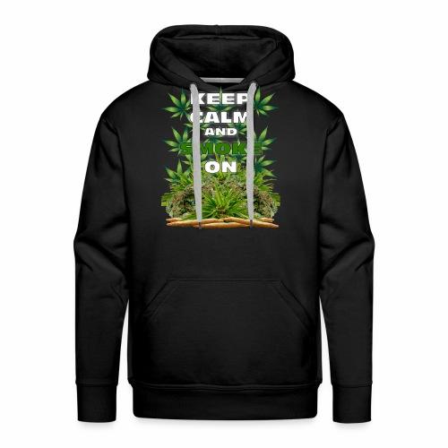 Keep Calm Smoke - Men's Premium Hoodie