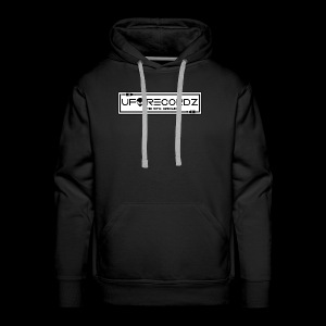 UFO RECORDZ White on Black - Men's Premium Hoodie