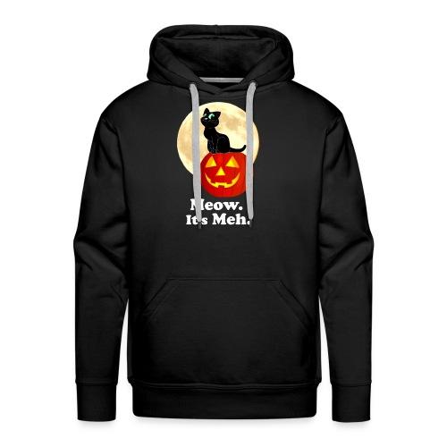 Black Cat Pumpkin Funny Halloween Gifts Ideas - Men's Premium Hoodie