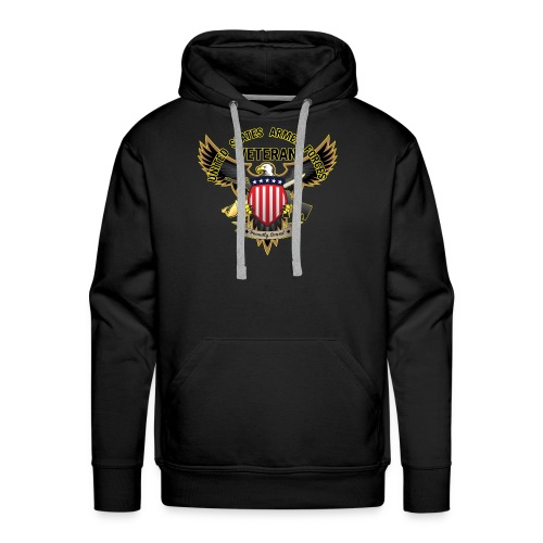 United States Armed Forces Veteran, Proudly Served - Men's Premium Hoodie