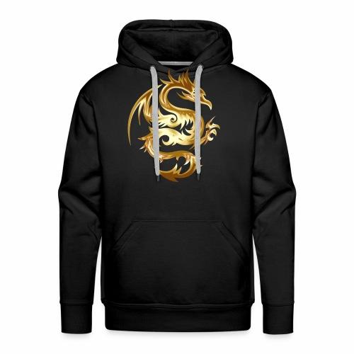 Abstract golden dragon - Men's Premium Hoodie