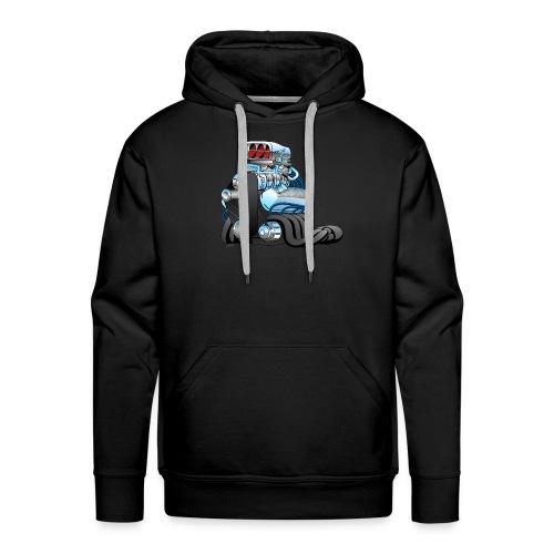 Hotrod Racing Car Engine Cartoon Illustration - Men's Premium Hoodie