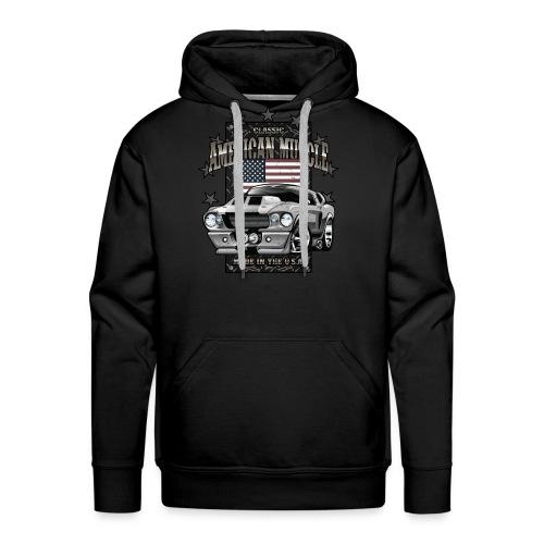 Classic American Muscle Car - Men's Premium Hoodie