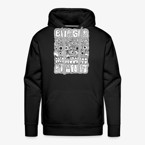 Burger Planet Hand Drawn Graphic - Men's Premium Hoodie