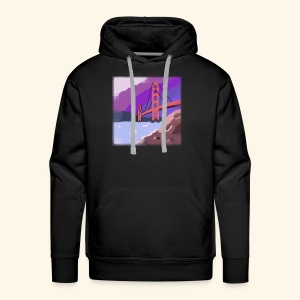 Golden Gate Bridge Hand Drawn - Men's Premium Hoodie