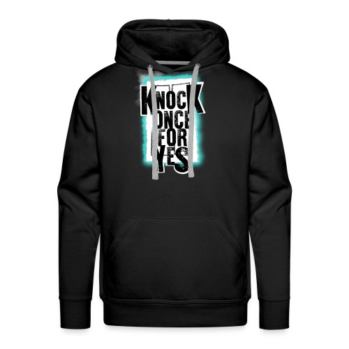 Knock Once For Yes - Logo - Men's Premium Hoodie