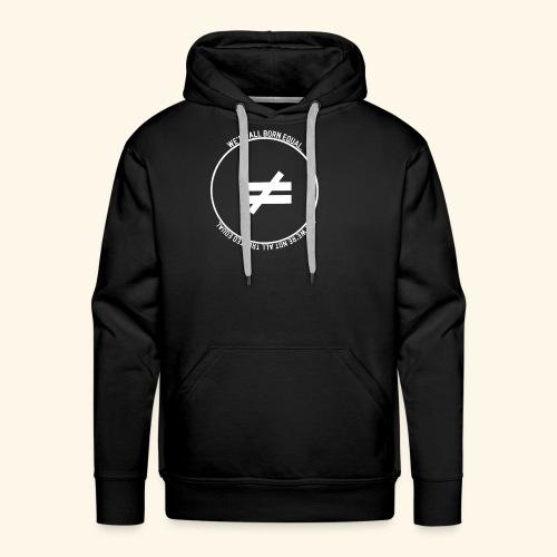 Stay True-White Logo - Men's Premium Hoodie