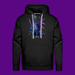 PURPLE AND BLUE WATER DRAGON - Men's Premium Hoodie