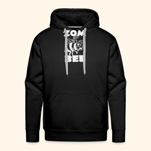 Zombie Honey Bee Humour Funny - Men's Premium Hoodie