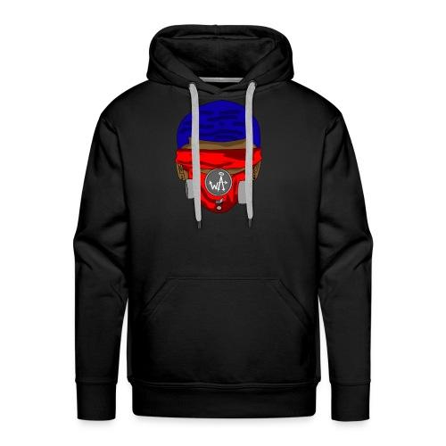 Blue Top - Red Masks - Men's Premium Hoodie