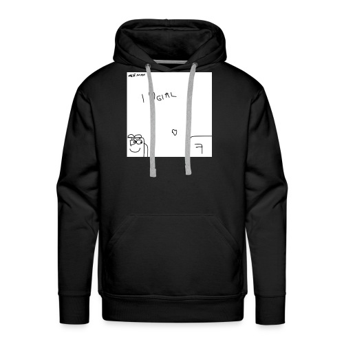 I Love Girl with Feeman - Men's Premium Hoodie