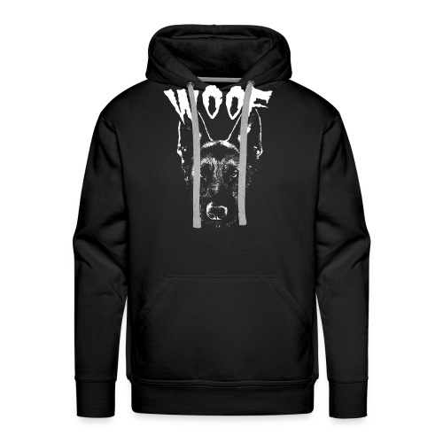 Woof Funny German Shepherd T-Shirt - Men's Premium Hoodie