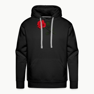 Rose Stem (Black) - Men's Premium Hoodie