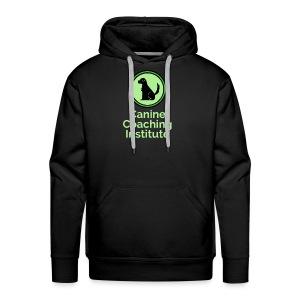 Canine Coaching Institute Logo with Light Green - Men's Premium Hoodie