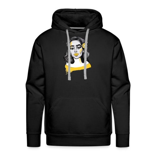 yellow attack - Men's Premium Hoodie