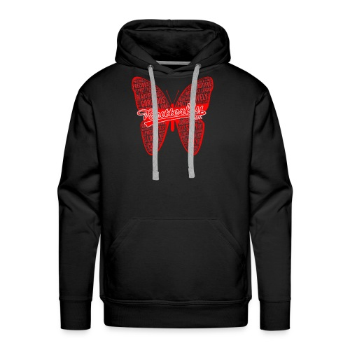 BUTTERFLY WORD RED - Men's Premium Hoodie