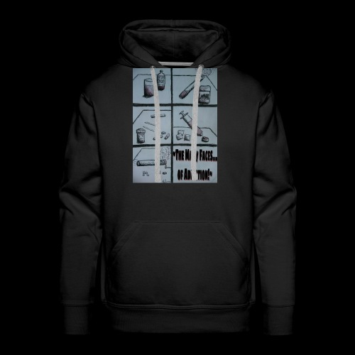 The Many Faces of Addiction - Men's Premium Hoodie