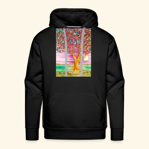 peacock tree - Men's Premium Hoodie