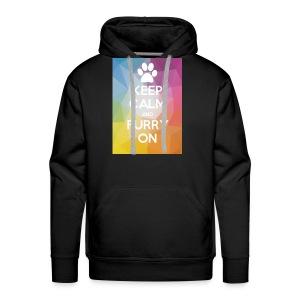 Keep Calm And Furry On Merch By ZOOM - Men's Premium Hoodie