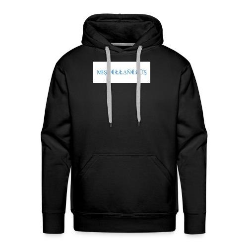 Miscellaneous White&Blue Design - Men's Premium Hoodie