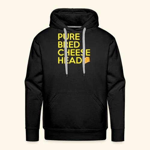 Pure Bred Cheese Head - Men's Premium Hoodie