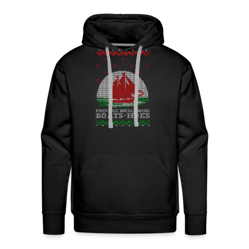 Boats and hoes Ugly Christmas Sweater - Men's Premium Hoodie