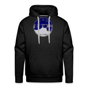 SB Logo Hat and Headphones Posterized - Men's Premium Hoodie