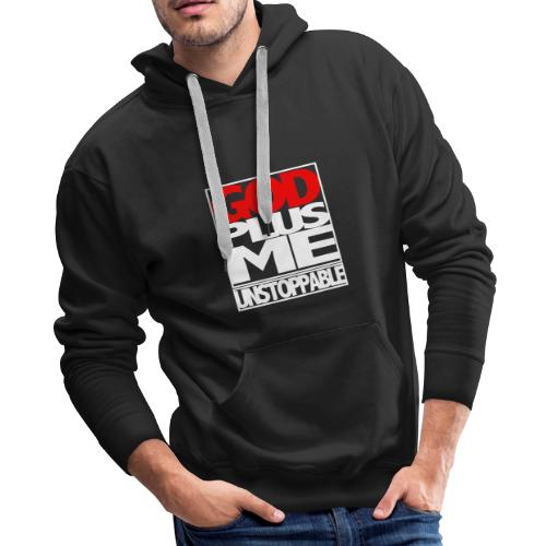 GOD PLUS ME WHT_T - Men's Premium Hoodie
