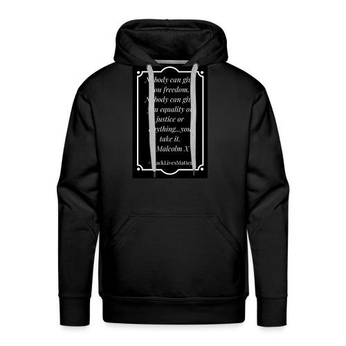 Black Lives Matter Malcolm X - Men's Premium Hoodie