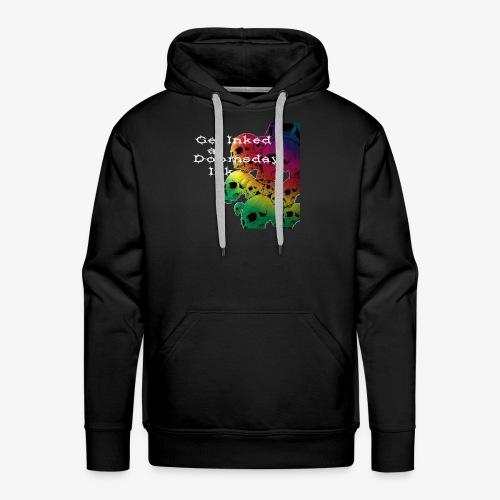 Get Inked - Rainbow Skull - Men's Premium Hoodie