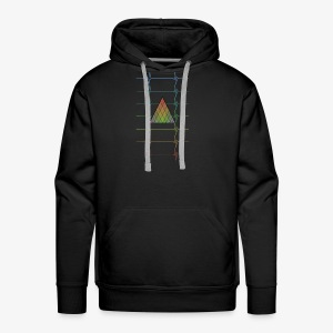 Hipster Colorfull Heartbeats - Men's Premium Hoodie