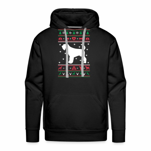Ugly Sweater Christmas Airedale dog - Men's Premium Hoodie