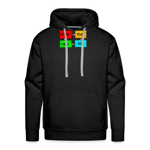 5 Things Real Estate Agents Action Plan Concept - Men's Premium Hoodie