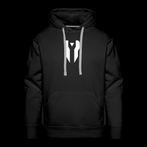 Divided Time Logo - White - Men's Premium Hoodie