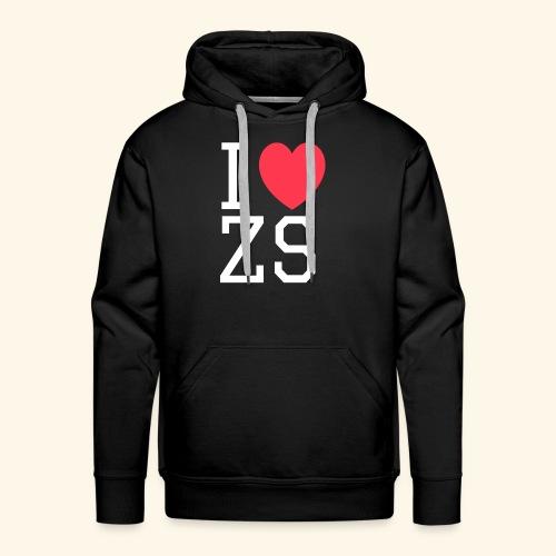 I ♥ ZS Black - Men's Premium Hoodie