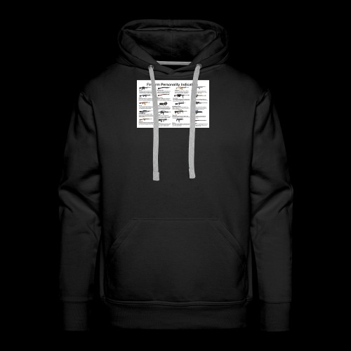 Pick one gun then read the personality discription - Men's Premium Hoodie
