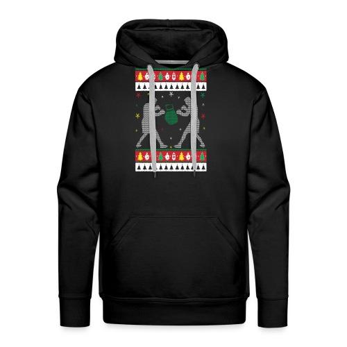 Boxing Ugly Christmas Sweater - Men's Premium Hoodie