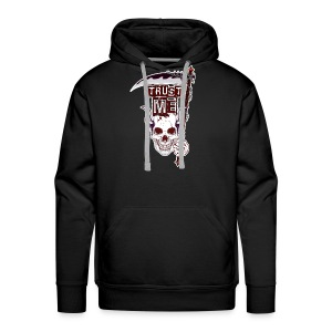 Trust Me - Funny Skull with Scythe and Chain - Men's Premium Hoodie
