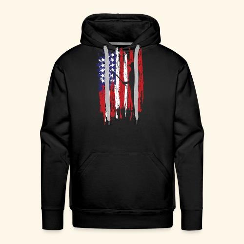 Fisherman US Flag - Men's Premium Hoodie