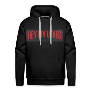 HEY MY LOVE IN RED - Men's Premium Hoodie
