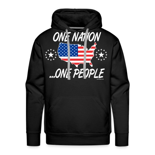 One Nation One People 2012 FRONT TRANSPARENT BACKG - Men's Premium Hoodie