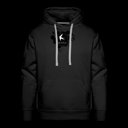 BlackBird Ink Spill Logo - Men's Premium Hoodie