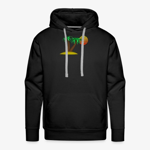 Palm Trees and Sun - Men's Premium Hoodie
