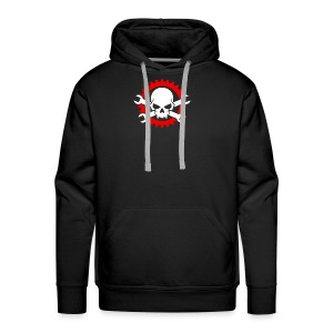 Gearhead Skull and Crossed Wrenches - Men's Premium Hoodie