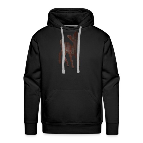 Cross Stitch Little Deer - Men's Premium Hoodie