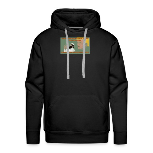 Aggression never solved anything - Men's Premium Hoodie