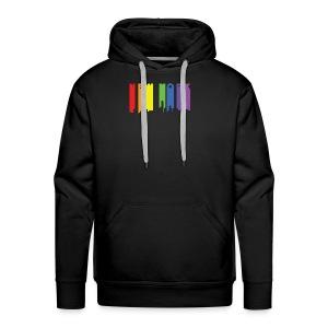 NY Paint drip effect design rainbow - Men's Premium Hoodie