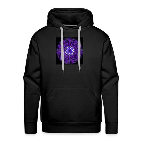 Feathery purple mandala - Men's Premium Hoodie