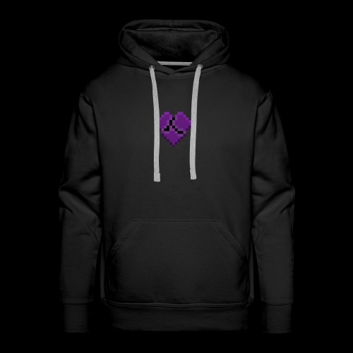 Pixel Purple Broken Heart - Men's Premium Hoodie