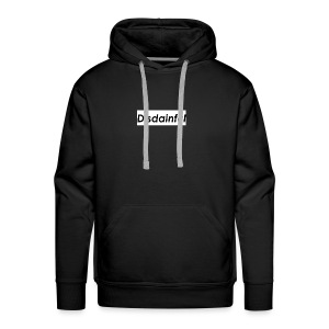 Distainful black letters - Men's Premium Hoodie